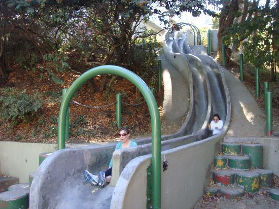 Bernal heights mini park slides in san francisco united states bernal heights mini park slides publicscrutiny Images